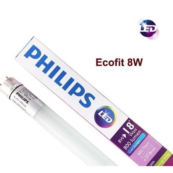 Kap Lampu TKO 2x TL LED Philips Ecofit -8W