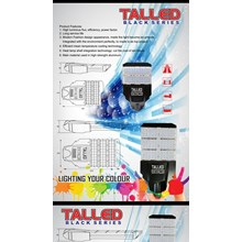 Lampu Jalan PJU LED Talled Black Edition -80W DC