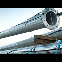 Tiang Lampu Sorot High Mast -20M Automatic Lowering Circle