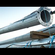 Tiang Lampu Sorot High Mast -20M Automatic Lowerin