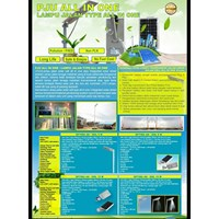 Distributor Lampu Jalan PJU LED All in one -15W 3