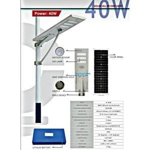 Lampu Jalan PJU LED solarcell 40 W