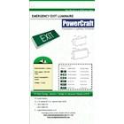 Lampu Emergency EXIT Powercraft BOX LED 3