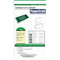 Lampu Emergency EXIT Powercraft BOX LED