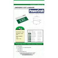 Lampu Emergency EXIT Powercraft Slim LED