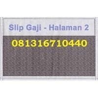 Jual Slip Gaji  Confidential 2