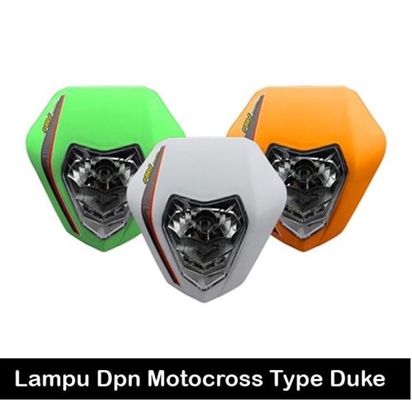 Lampu Depan Motocross Duke Sticker