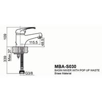 Jual Kran Wastafel Wasser MBA S 030 2