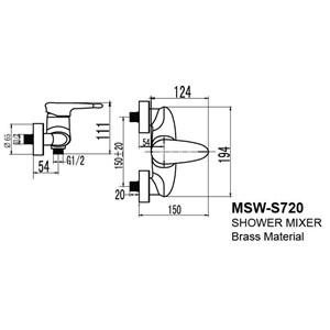 Dari Kran Shower Wasser MSW S 720 1