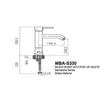 Jual Kran Wastafel Wasser MBA S 330 2