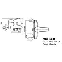 Jual Kran Bathtub Wasser MBT S 610 2