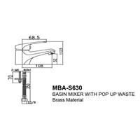 Jual Kran Wastafel Wasser MBA S 630 2