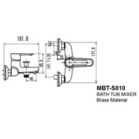 Jual Kran Bathtub Wasser MBT S 810 2