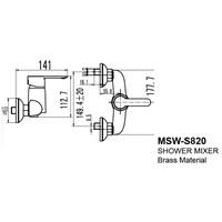 Jual Kran Shower Wasser MSW S 820 2