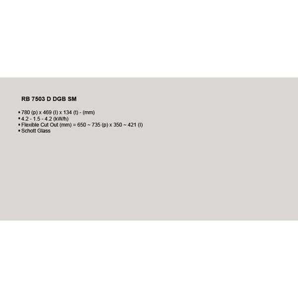 Kompor Tanam Rinnai RB 7503 D GBSM