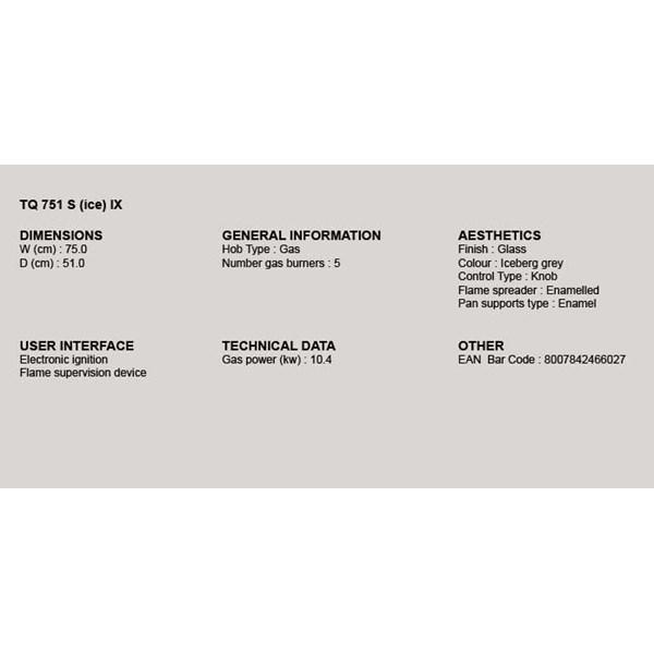 Kompor Tanam Ariston TQ 751 (ICE) KX