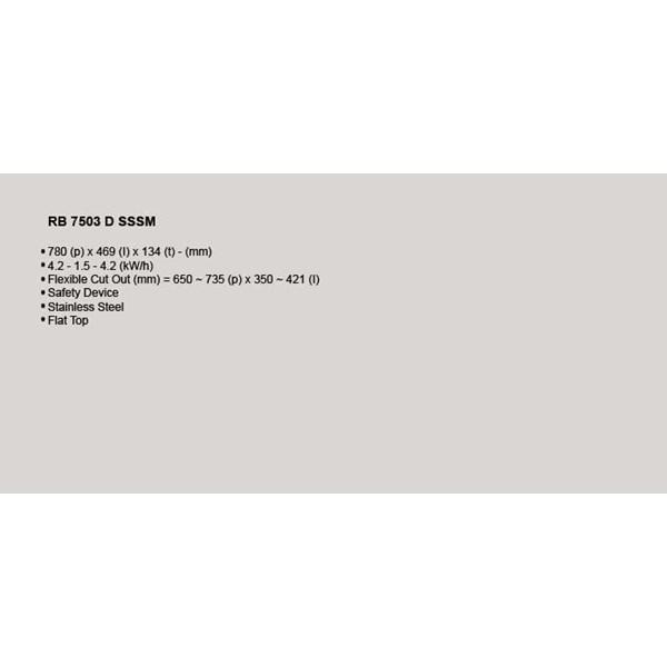 Kompor Tanam Rinnai RB 7503 D SSSM