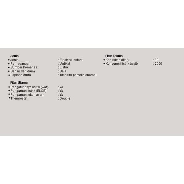 Water Heater Listrik Modena EI 3 V