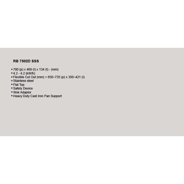 Kompor Tanam Rinnai RB 7502 D SSS