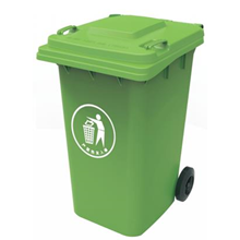 Plastic Wheel Bin Dark Green 240L