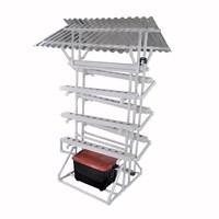 Jirifarm Taman Hidroponik Paket Starterkit Nft Model I 70 Lubang Tanam Atap Solartuff Anti Uv 1