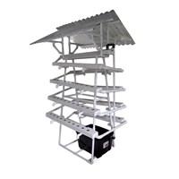 Taman Jirifarm Hidroponik 09307 Paket Starterkit Nft Pyramid 90 Lubang Tanam Atap Solartuff Uv 1