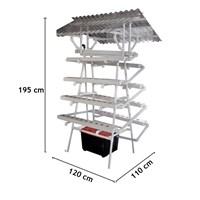 Jual Taman Jirifarm Hidroponik 09307 Paket Starterkit Nft Pyramid 90 Lubang Tanam Atap Solartuff Uv 2