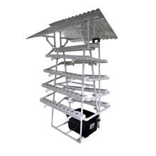 Taman Jirifarm Hidroponik 09307 Paket Starterkit Nft Pyramid 90 Lubang Tanam Atap Solartuff Uv