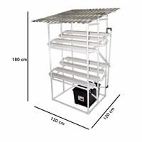 Jual Taman Jirifarm Hidroponik 09308 Paket Starterkit Nft 80 Lubang Tanam 2 Tingkat Atap Solartuff Uv 2