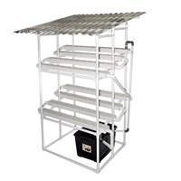 Taman Jirifarm Hidroponik 09308 Paket Starterkit Nft 80 Lubang Tanam 2 Tingkat Atap Solartuff Uv 1