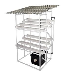 Taman Jirifarm Hidroponik 09308 Paket Starterkit Nft 80 Lubang Tanam 2 Tingkat Atap Solartuff Uv
