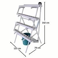 Jual Taman Jirifarm Hidroponik 09356 Paket Starterkit Nft Standing 40 Lubang Tanam 2