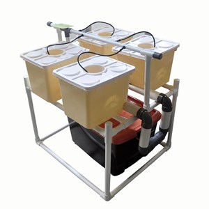 Jirifarm Hidroponik Sistem Dutch Bucket 4 Pot Diameter 10 Cm (Taman)