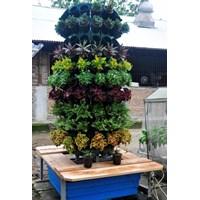 Distributor Jirifam Vertical Garden Bulat 160 Lubang Tinggi 2.5 M + Kolam & Kursi (Taman) 3