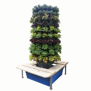 Jirifam Vertical Garden Bulat 160 Lubang Tinggi 2.5 M + Kolam & Kursi (Taman)