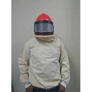 Blasting Helmet Suit Curve Screen With Jacket