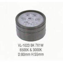 Lampu LED down light VL-1023 BK