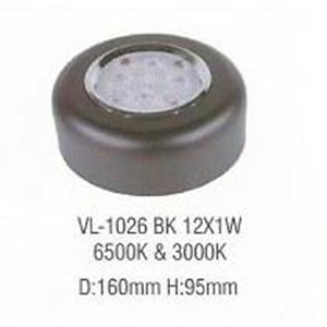 Lampu LED down light VL-1026 BK