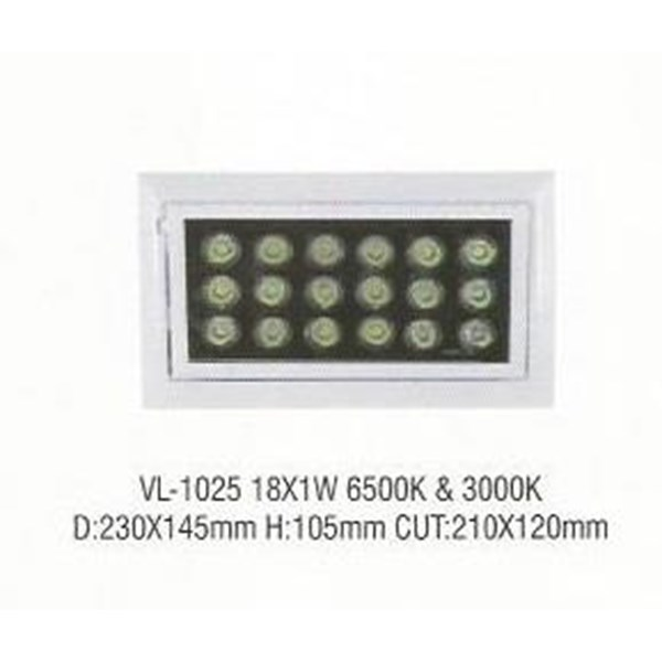 Lampu LED down light VL- 1025