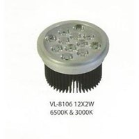 Spot Light LED COB down light vl 8107 12x2w