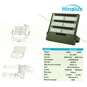 Lampu Sorot LED 300w - 380w Multi Chip Hinolux HL - 5110