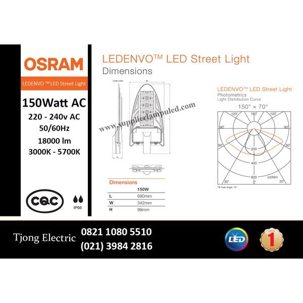 Lampu Jalan PJU LED OSRAM LEDENVO -150W AC