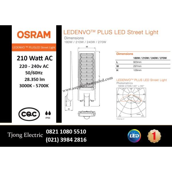 Lampu Jalan PJU LED OSRAM LEDENVO PLUS -210W AC