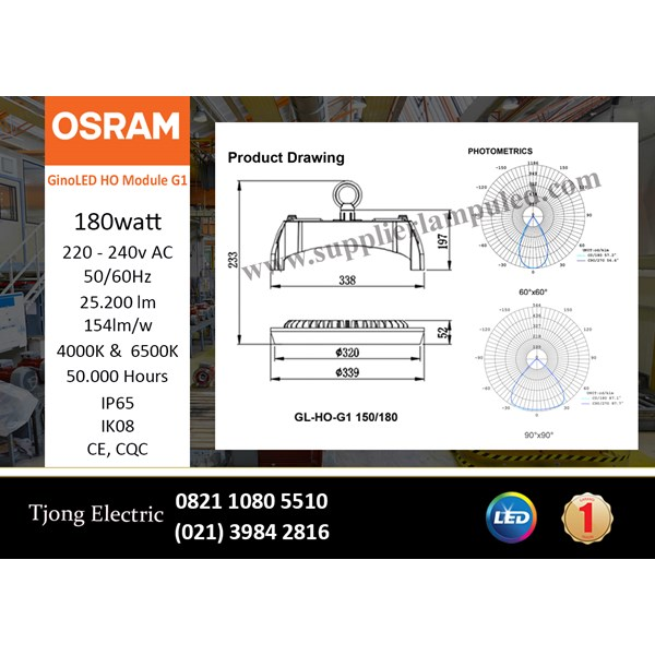 Lampu High Bay OSRAM Gino LED 180 Watt