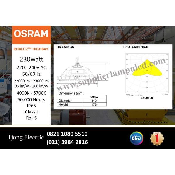 Lampu High bay LED OSRAM ROBLITZ - 230 W AC