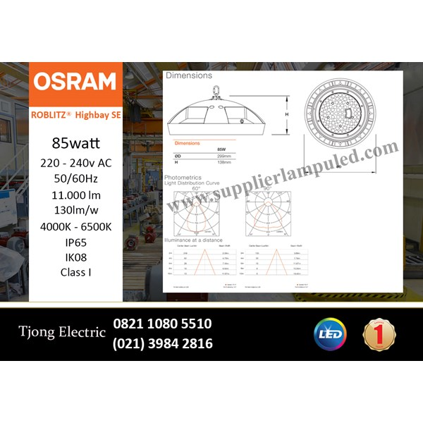 Lampu High bay LED OSRAM ROBLITZ SE - 85 W AC