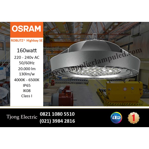 Lampu High bay LED OSRAM ROBLITZ SE - 160 W AC