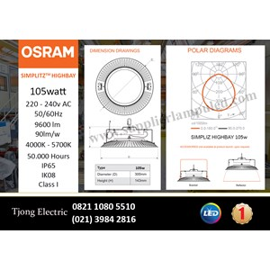 OSRAM High Bay LED Lamp SIMPLITZ -105W AC