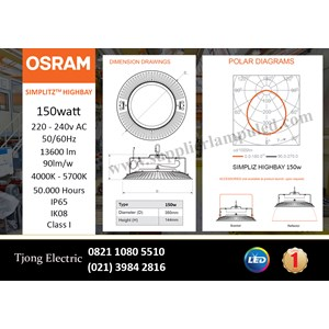 OSRAM High Bay LED Lamp SIMPLITZ -150W AC