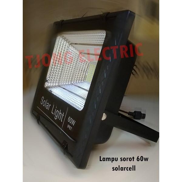 Lampu sorot 60w solarcell